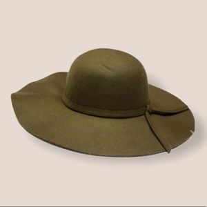 Felt Army Green Floppy Hat